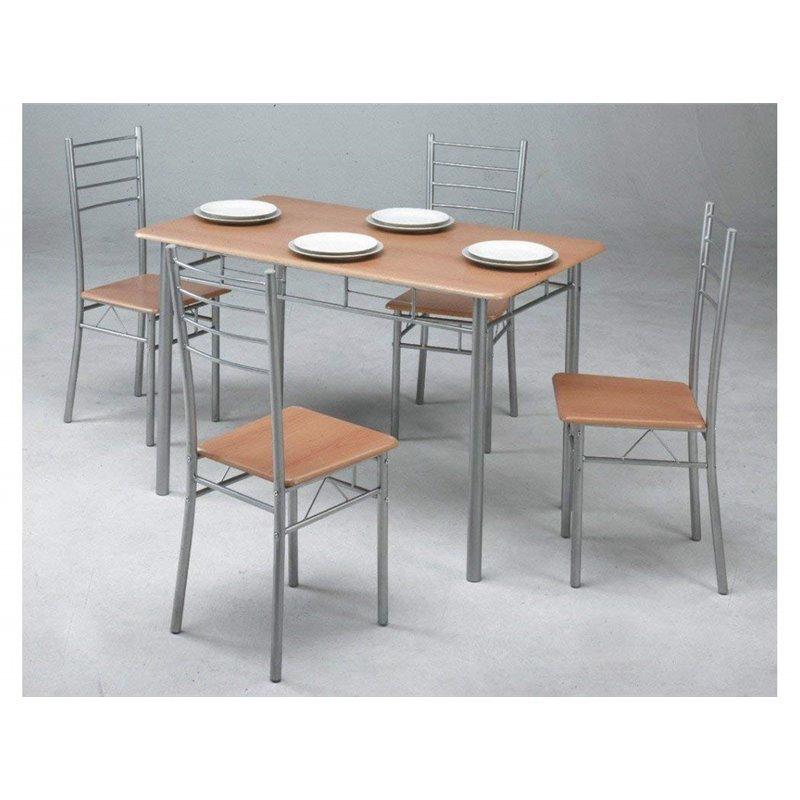 Conjunto mesa de cocina + 4 sillas