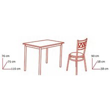 Conjunto mesa de cocina + 4 sillas ANILLO