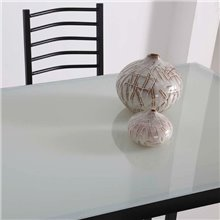 Conjunto mesa de cocina + 4 sillas NOEMÍ negro