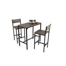 Conjunto mesa de cocina + 2 taburetes