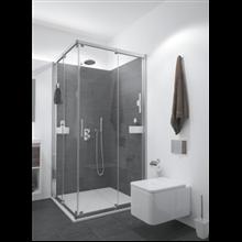 Mampara ducha angular 2 puertas correderas + 2 fijos ACX4 BATH+