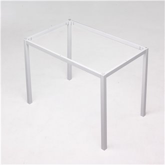 ESTRUCTURA mesa cristal blanca Iberodepot