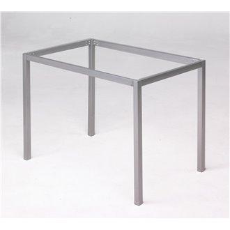 ESTRUCTURA mesa cristal gris Iberodepot