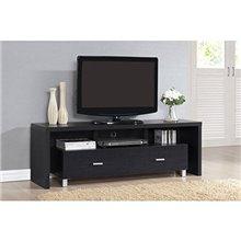 Mueble de televisón 2 cajones negro Iberodepot