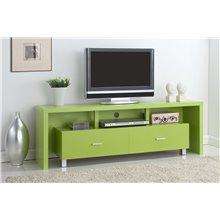 Mueble de televisón 2 cajones verde Iberodepot