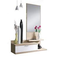 Mueble de recibidor con espejo Iberodepot