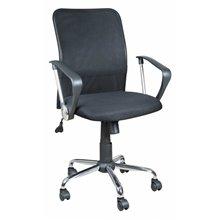 Silla escritorio ruedas y reposabrazos transpirable negra IberoDepot