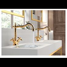 Grifo para lavabo bimando TRES-CLASIC
