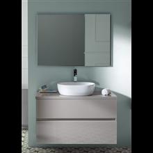 Pack mueble de baño Taupe y lavabo Glass Line - Sanchis