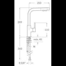 Grifo de fregadero Osmosis Design SEVEN