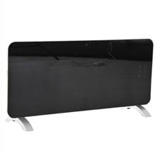 Calefactor eléctrico 92x43x24cm negro Homcom