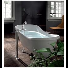 Set de grifería para bañera con tomas a suelo TRES-CLASIC