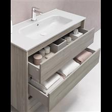 Mueble de baño 3 cajones con lavabo cerámico...