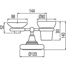 Portavasos-jabonera de encimera cerámico -TRES