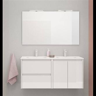 Mueble de baño 2 cajones 2 puertas con lavabo cerámico dos ...