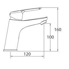 Grifo de lavabo ELEGANCE 100 - CLEVER