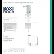 Calentador BAXI-ROCA serie FI para gas natural IberoDepot