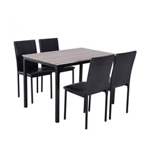 Conjunto mesa comedor + 4 sillas Otsunny