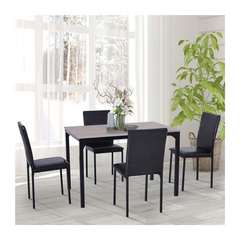 Conjunto mesa comedor + 4 sillas Homcome