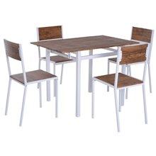 Conjunto mesa extensible + 4 sillas Homcom