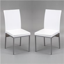 Kit 2 sillas LUCIO blancas IberoDepot