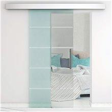 Puerta corredera de cristal para interior Homcom