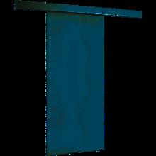 Puerta de corredera de cristal esmaltado 210x75 Homcom