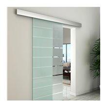Puerta corredera de vidrio esmaltado Homcom