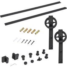 Kit para instalación de rieles de puerta corredera Homcom