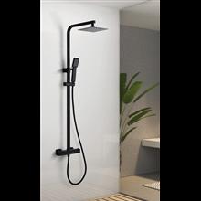 Columna termostático ducha negro mate Imex Vigo