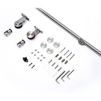 Kit de instalación para puertas correderas de acero Homcom