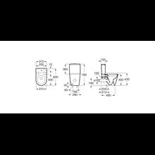 Inodoro compacto completo Rimless Inspira Round 60cm Roca