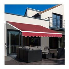 Toldo de pared rojo oscuro Outsunny