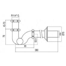 Sifón de lavabo acero curvo articulado con registro Clasic Tres