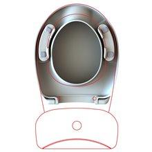 Tapa y asiento de inodoro PMR Solfless
