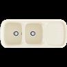 Fregadero de 2 cubas con escurridor serie PLATINO color PERGAMÓN POALGI