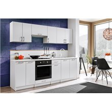 Cocina 240cm blanco brillo Eliza Tarraco
