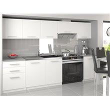 Cocina 240cm blanco Uniqa Tarraco
