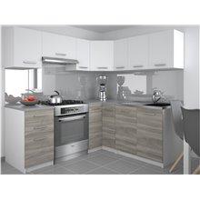 Cocina 360cm blanco y gris Lidia Tarraco