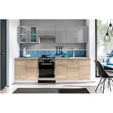 Cocina 260cm gris y ariston Mix Tarraco