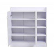Zapatero blanco con estantes HomCom