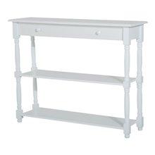 Mueble de recibidor con estantes blanco HomCom
