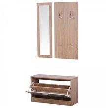Mueble de recibidor 3 piezas madera HomCom