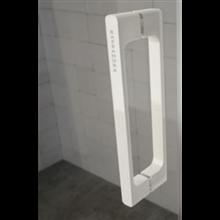 Mampara angular puerta corredera Glasé blanca transparente Kassandra