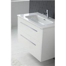 Pack mueble con 2 cajones lavabo encastrado y espejo CUT LINE Sanchis