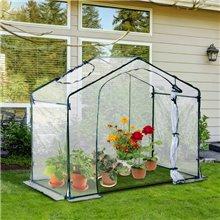 Invernadero transparente para jardín Outsunny