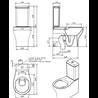 Inodoro de cisterna baja rimflush Sanproject Unisan