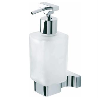 Dosificador de jabón de cristal y aluminio Quax Baño Diseño