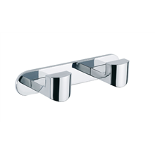 Percha doble de aluminio Unik Baño Diseño