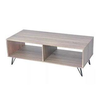 Mueble de televisón madera-gris VidaXL